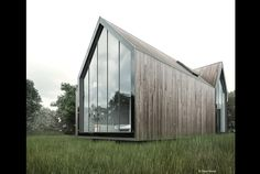 Architizer - Explore, Collect and Source architecture Wood Cladding Exterior, Wood Facade, Wood Architecture, Vernacular Architecture, Modern Barn House, Long House, Image 3d, Modern Farmhouse Exterior, Tiny House Cabin