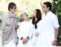 With husband Abhishek Bachchan and in laws Jaya and Amitabh Bachchan