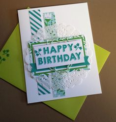 Spring colors for this birthday card