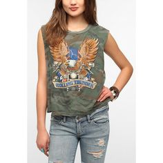 Truly Madly Deeply Rolling Thunder Muscle Tee ($39) ❤ liked on Polyvore