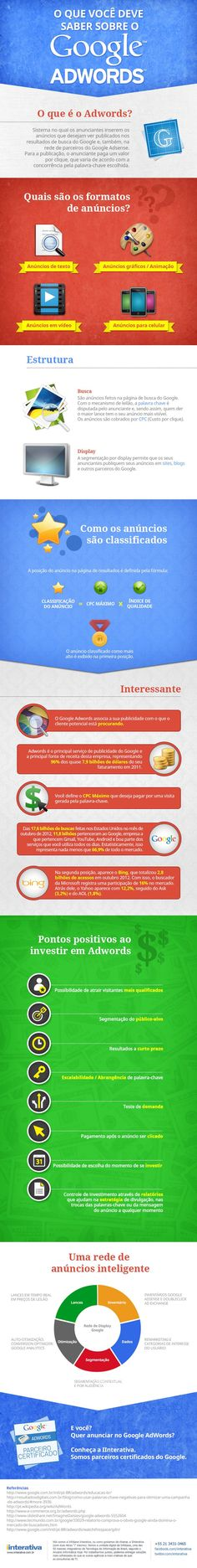 Descubra como funciona o Google Adwords. #SocialMedia #Adwords #infographic Clique aqui http://www.estrategiadigital.pt/ e visite agora o Blog Estratégia Digital para ver mais Táticas e Ferramentas de Marketing Digital para Internet!