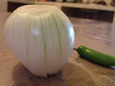 Fotografía: textura visual dominante:la cebolla Subdominante: el Chile subordinado: el fondo