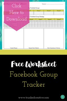 Grab the free Facebook Group Tracker to make the most out of Facebook Groups for your business! From trunkedcreative.com