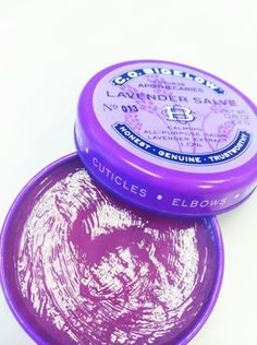 C.O.Bigelow Lavender Salve, my cuticles have never looked or felt better!  I stow this in my purse just in case my hands/cuticles are too dry!