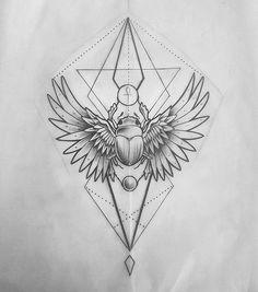 Best Geometric Tattoos And Symbolism Bug Tattoo, Insect Tattoo, Sternum Tattoo, Tattoo On, Head Tattoos, Tattoo Drawings, Body Art Tattoos, Sleeve Tattoos, Shape Tattoo