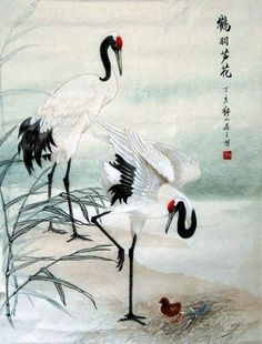 cranes in korean art - Google Search