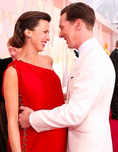 Benedict and Sophie Cumberbatch. Awwwww. :) #oscars 2015.