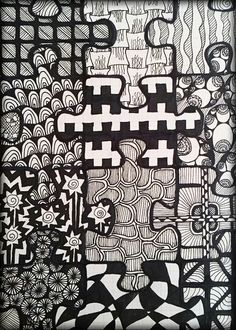 doodle..zentangle..drawing..puzzle