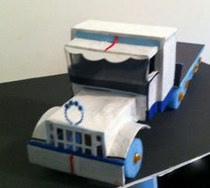 Diaper truck semi truck baby shower centerpiece by Christianscraft