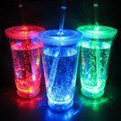 No-Spill Light Up LED Glow Cup with Lid