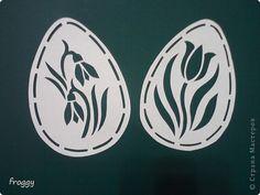 Поделка, изделие Вырезание силуэтное, Вырезание симметричное, Вытынанка: Весна!Пасха! Бумага Пасха. Фото 4