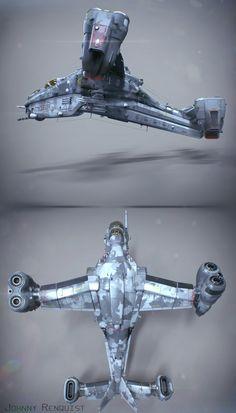 Wasp A60 Gunship by Johnny Renquist on ArtStation.