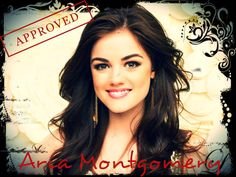 Lucy Hale as Aria Montgomery on Pretty Little Liars. edited by me