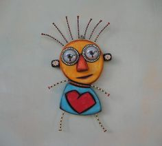 Little Valentine Original Found Object Sculpture por FigJamStudio