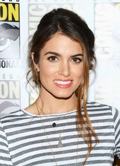 Nikki Reed at Comic-Con. Makeup by Fiona Stiles. Hair by Cervando.