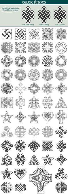 Celtic Knots Symbols by iz on Celtic Knot Tattoo, Celtic Tattoos, Celtic Knots, Gaelic Tattoo, Celtic Tattoo Symbols, Irish Celtic Symbols, Celtic Protection Symbols, Irish Tattoos, Celtic Quilt