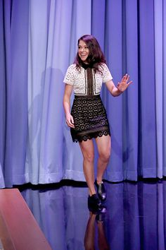 Actress Tatiana Maslany appears on The Tonight Show starring Jimmy Fallon on the 21st of August, 2015.