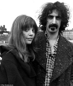 Husband and wife: Frank Zappa and Gail, shown in 1972, were married in 1967 and had four children together