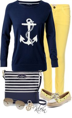 """Sail Away"" by stacy-klein on Polyvore...LOVE the purse."