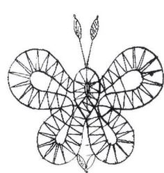 Mariposa Butterfly, Bruges Lace, Bobbin Lace Patterns, Lace Heart, Lace Jewelry, Butterfly Pattern, Needle Lace, Lace Making, Hobbies And Crafts