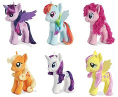 "Aurora My Little Pony 13"" Plush Mane Six Pony Collection"