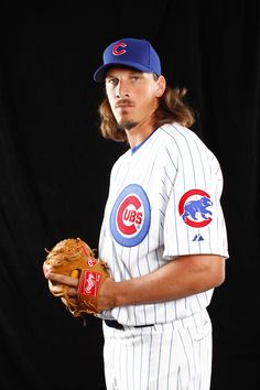 Jeff Samardzija... Love it when he pitches!  He used to play football for the Notre Dame Irish & he was awesome then too!
