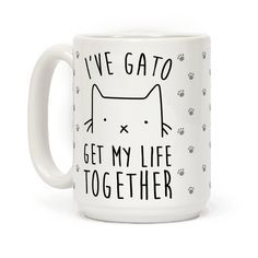 This funny cat mug is great for anyone who loves cats and knows it no matter what language you say it! Grab this purrrfect gato coffee mug today! Perfect for cat lovers and coffee lovers alike!