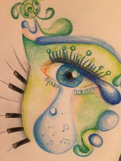 Love Drawings, Watercolor Tattoo, Tattoos, Face, Tatuajes, Tattoo, The Face, Faces, Temp Tattoo