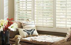 Eclipse Shutters interior plantation shutters for large windows.