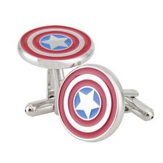 NexgenCover I Love Dad Cufflinks Hero Cuff-links Red Black Cufflinks (Hero Captain America Cufflinks Marvel Comics Formal Wear). Highly fashionable and suitable for office attire. Made by enamel and metal. Unique and stylish shape. Finely polished to ensure optimum smoothness of surface.