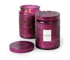 Berry Berry Good: Voluspa Santiago Huckleberry Large Glass Jar Candle