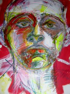 mixed media drawing on paper by Kat Ostrow