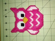 Pink Owl Plastic Canvas Magnet By Melanieballestrazze On Etsy cakepins.com