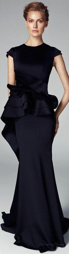 John Paul Ataker Fall-winter 2015-2016  - gorgeous black gown