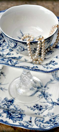 ~Pearls and Wedgewood English China   The House of Beccaria#