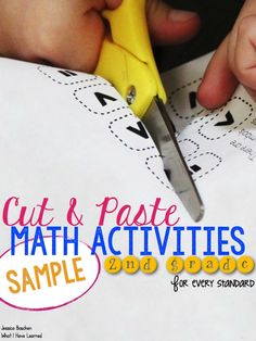 Third grade cut and paste math activities for almost every Common Core math standard. These activities add a little bit of fun back into third grade math. Fun Math, Math Games, Math Activities, Math Math, Math Enrichment, Common Core Math Standards, Second Grade Math, Fourth Grade, Grade 3