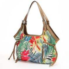 Croft & Barrow® Double-Header Tropical Shopper ($29) ❤ liked on Polyvore