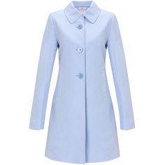 John Lewis Sateen A-Line Mac, Blue found on Polyvore