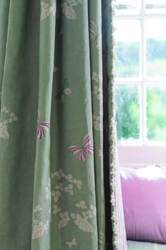 Duck Egg Hydrangea Erflies Is The Perfect Linen Fabric For A Calming Household
