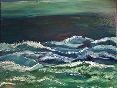 Waves of Feeling, 16x20, oil on canvas, by Leona Bushman