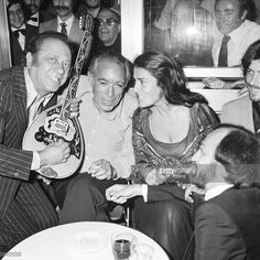 Anthony Quinn and Irene Papas at Cannes Film Festival in 1976 in Cannes, France.