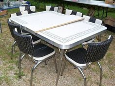 S Vintage Table And Chairs S CHROME AND FORMICA KITCHEN - Chrome and formica dinette sets