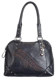 Harley-Davidson® Womens Punk Alma Satchel Purse Black Leather