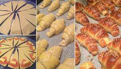 Plněné croissanty se salámem a sýrem | NejRecept.cz