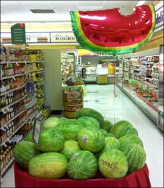 Luscious Watermelon Balloon as Signage