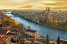 Verona Italia desde las alturas