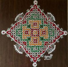 Beautiful Mehndi Design, Beautiful Rangoli Designs, Kolam Designs, Mehndi Designs, Indian Rangoli, Kolam Rangoli, Rangoli With Dots, Simple Rangoli, Sankranthi Muggulu