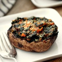 Kale and goat cheese give these vegetable-stuffed mushrooms creamy flavor and tons of nutrients.