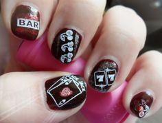 Wonderful #casinogame nail design