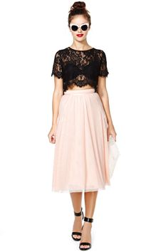 Persuasion Lace Crop Top | Shop Back In Stock at Nasty Gal
